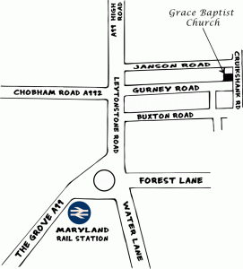 Map to Grace Baptist Church
